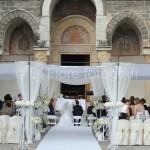 Fotografi matrimoni Napoli. Celebrazione rito cattolico all'aperto. Chiese in Campania. Sant'Angelo in Formis. Capua
