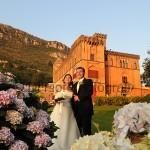 Fotografi matrimonio Napoli. Matrimonio al Castello. Antico Parco del Principe. Castello Colonna Sorrento