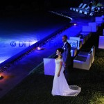 Fotografi matrimonio Napoli. Romantico matrimonio in piscina a Villa Guarracino.