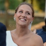 Scatti emozionanti matrimonio. La dolcezza del sorriso della sposa. Occhi della sposa.