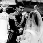 Emozionante matrimonio a Sorrento. Lo sposo in alta uniforme.