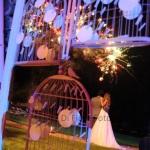 Fuochi pirotecnici al matrimonio in attesa di festeggiare l'anno nuovo!