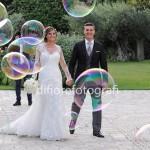 bolle di sapone per gli sposi