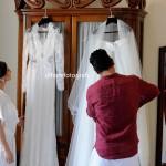 come indossare l'abito da sposa
