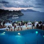 Matrimonio a Sorrento. Hotel Delfino. Ricevimento nuziale a bordo piscina