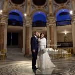 Matrimonio in inverno a Napoli. Ricevimento nuziale al Salone Margherita