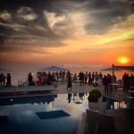 Matrimonio romantico. Ricevimento nuziale al tramonto a Villa Eliana