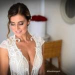 Preparazione della sposa. Trucco e acconciatura per la sposa