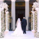 Matrimonio perfetto. Gli addobbi floreali in chiesa.