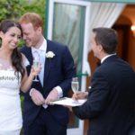 Brindisi degli sposi. Matrimonio all'Hotel Belmond Caruso Ravello.