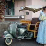 Vespa-Ape Calessino per un matrimonio dal tocco vintage